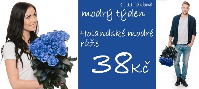 Modrý týden - modré růže v akci!
